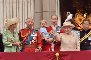 Kate Middleton Camilla Parker Bowles Prince George Attends the Trooping of the Colour for the First Time