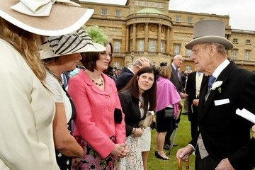 Kate Middleton Prince Philip Buckingham Palace Hosts a Garden Party