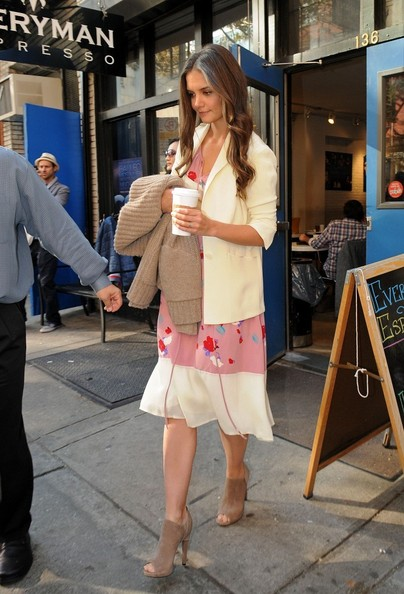 Katie Holmes Cutout Boots