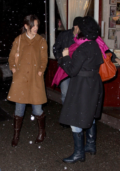 Katie Holmes Knee High Boots []