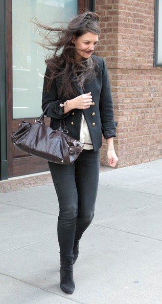More Pics of Katie Holmes Pea Coat (1 of 15) - Katie Holmes Lookbook - StyleBistro