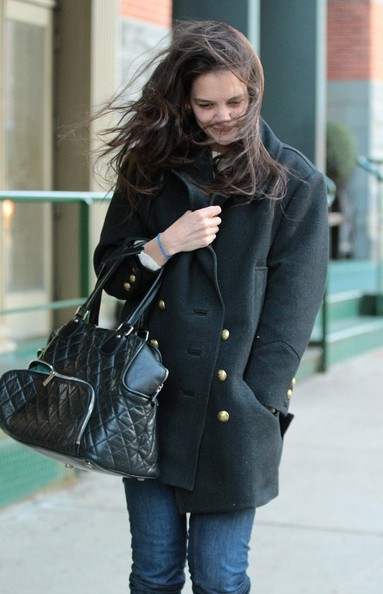 More Pics of Katie Holmes Wool Coat (2 of 11) - Wool Coat Lookbook - StyleBistro