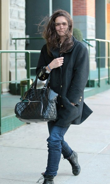 More Pics of Katie Holmes Wool Coat (4 of 11) - Wool Coat Lookbook - StyleBistro