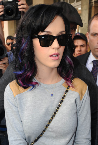 More Pics of Katy Perry Medium Curls with Bangs (1 of 5) - Katy Perry Lookbook - StyleBistro []