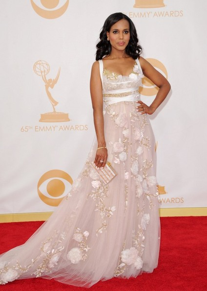 Kerry Washington Beaded Dress []