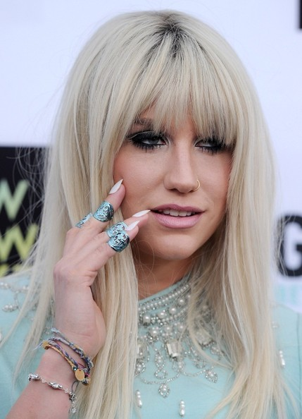 Kesha Long Straight Cut with Bangs
