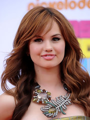 Debby Ryan brought out the glitz for the 2011 Kids' Choice Awards with a heavily embellished feathered necklace.