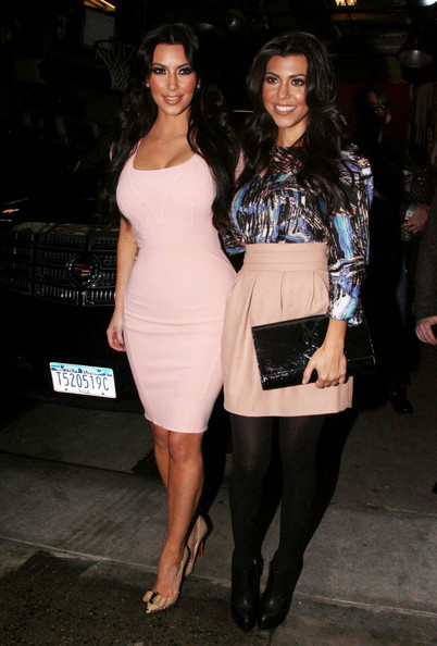 Kim+Kardashian in Kim and Kourtney Kardashian on Talk Shows