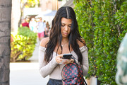 Kourtney Kardashian Off-the-Shoulder Top