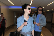 Krysten Ritter Denim Shirt