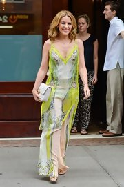 Kylie sported a flowing maxi dress  over matching pants while out in NYC.