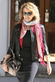 """ylie is wearing the """"New Wayfarer"""" style  in tortise bown with a black lens."""