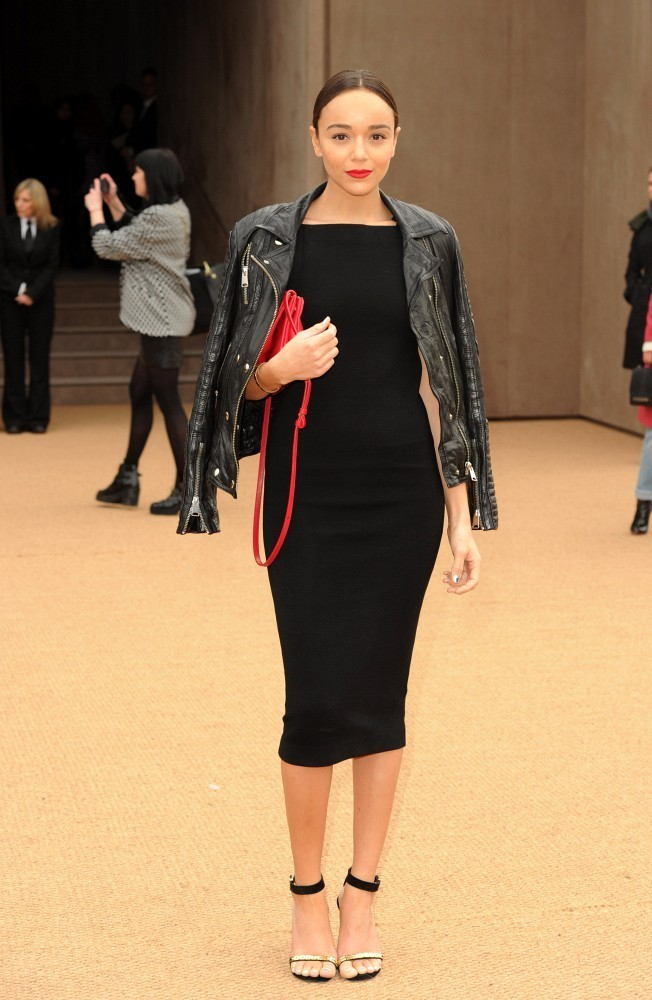 Ashley Madekwe At Burberry The Most Standout Street Style At London Fashion Week Fall 2014
