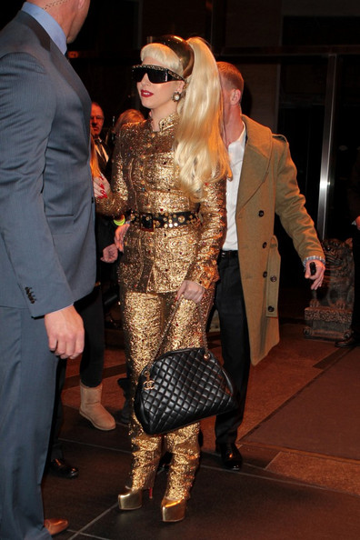 Lady Gaga Quilted Leather Bag
