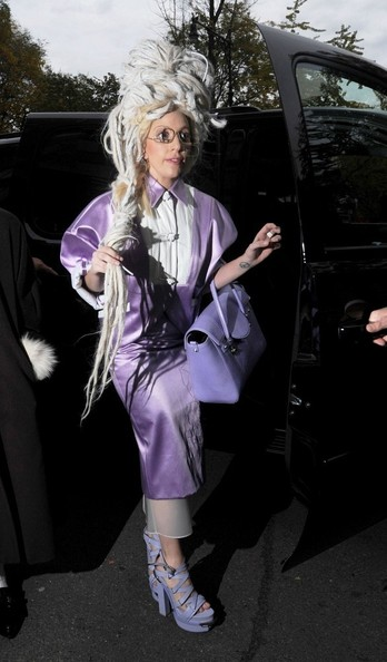 Lady Gaga Skirt Suit