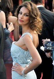 Madalina Ghenea wore her tresses in a messy updo at the Cannes premiere of 'Lawless.'