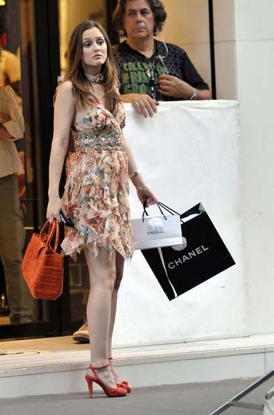 Leighton Meester Strappy Sandals []