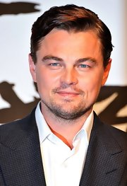 Leonardo DiCaprio looked handsome at the 'Django Unchained' press conference with this sleek side-parted hairstyle.