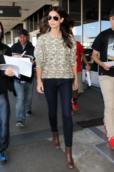 More Pics of Lily Aldridge Ankle Boots (1 of 10) - Boots Lookbook - StyleBistro []