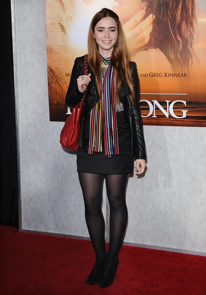 Lily Collins Mini Skirt Lily Collins Looks Stylebistro