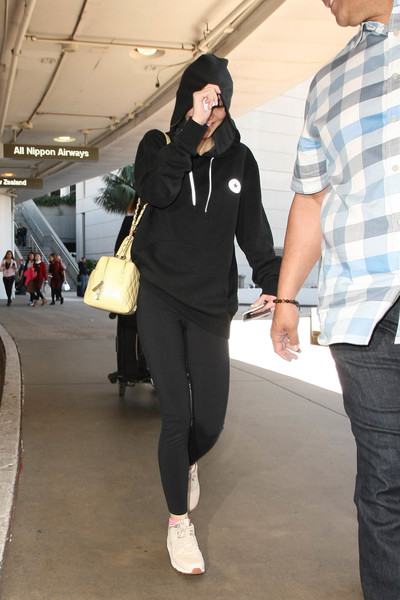 Lily-Rose Depp Leather Sneakers