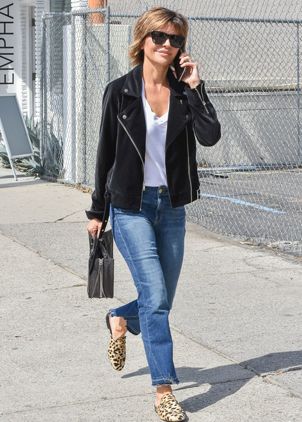 More Pics of Lisa Rinna Ripped Jeans (1 of 7) - Ripped Jeans Lookbook - StyleBistro