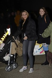 Michelle Heaton was spotted outside the London Studios wearing a comfy puffa jacket.