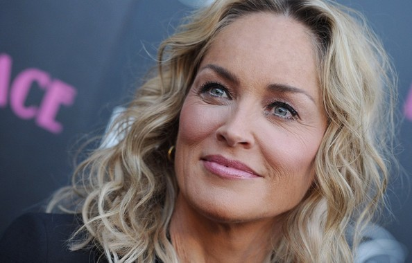More Pics of Sharon Stone Medium Wavy Cut (1 of 32) - Sharon Stone Lookbook - StyleBistro