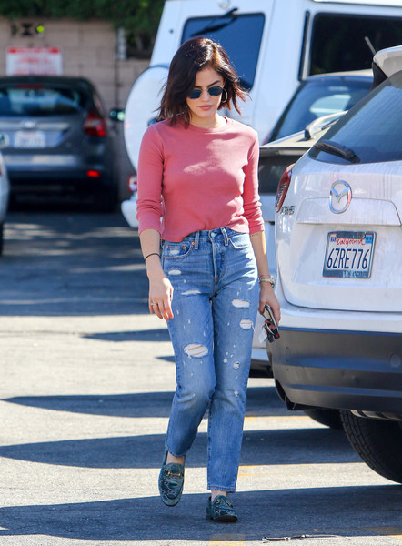 Lucy Hale Ripped Jeans []