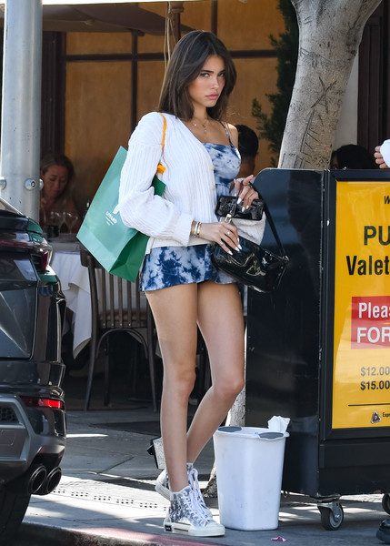 More Pics of Madison Beer Canvas Sneakers (4 of 30) - Athletic Shoes Lookbook - StyleBistro []