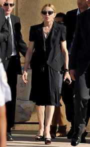 Madonna donned a short sleeve blazer while out in Marseille.