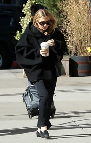 Mary-Kate Olsen is no stranger to oversized pieces like this bulky wool coat.