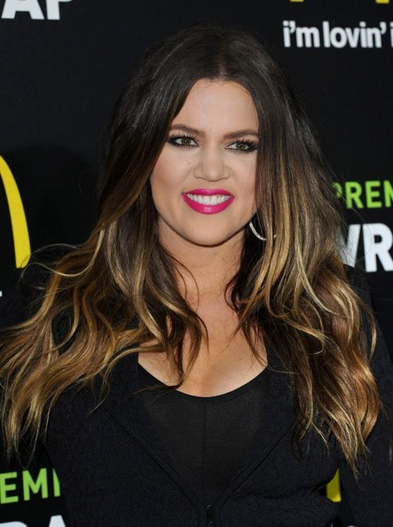 More Pics of Khloe Kardashian Pink Lipstick (1 of 9) - Makeup Lookbook - StyleBistro