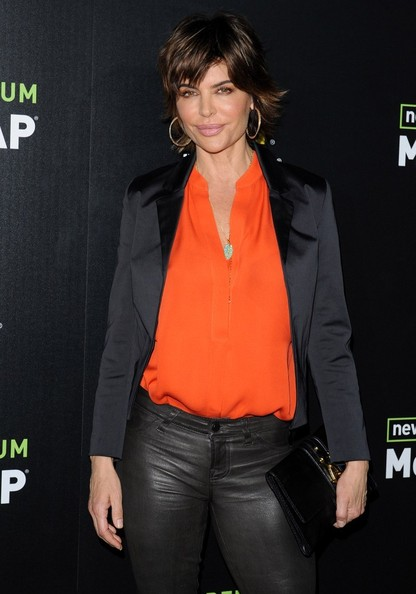 More Pics of Lisa Rinna Leather Pants (1 of 4) - Leather Pants Lookbook - StyleBistro