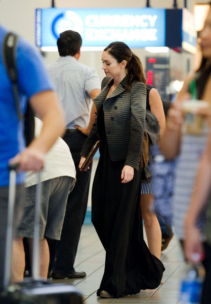 More Pics of Megan Fox Leather Messenger Bag (1 of 16) - Megan Fox Lookbook - StyleBistro