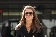 Maria Menounos is all smiles as she arrives at LAX (Los Angeles International Airport).