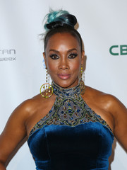 Vivica A. Fox rocked a blue-tinged top knot at the La Vie En Bleu event.