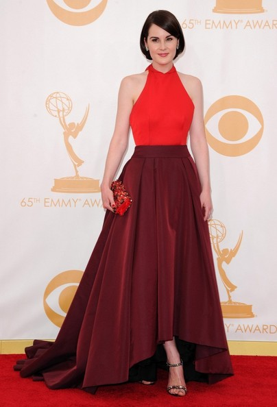 Michelle Dockery Halter Dress