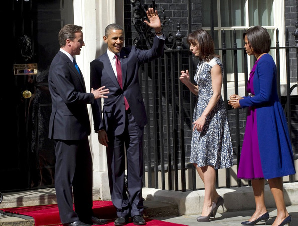 Barack and Michelle Obama at 10 Downing St