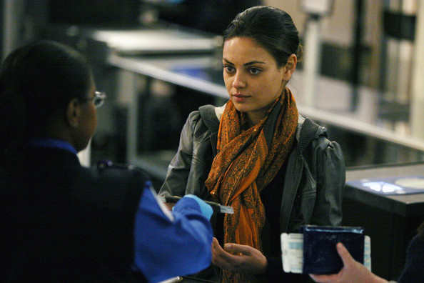 Mila Kunis Patterned Scarf