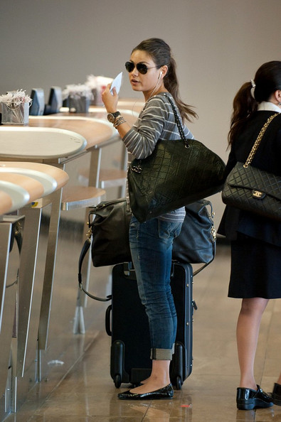 Mila Kunis Quilted Leather Bag