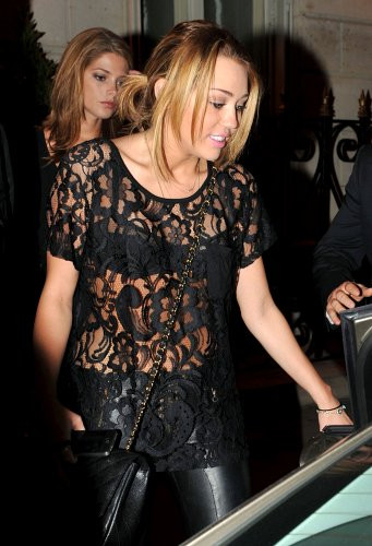 Miley Cyrus Sheer Top
