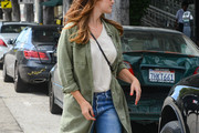 Minka Kelly Military Jacket
