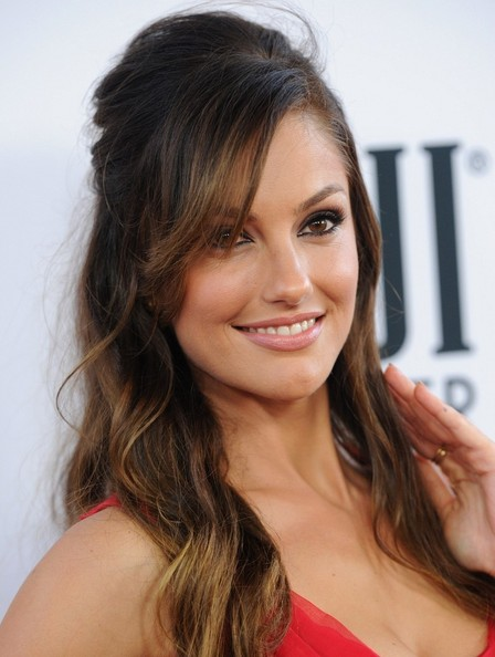 Minka Kelly Half Up Half Down