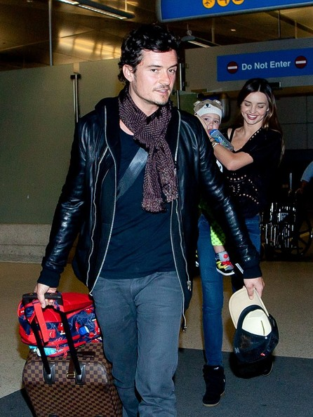 Miranda Kerr and Family at LAX