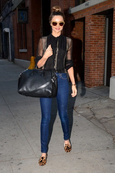 More Pics of Miranda Kerr Leather Shoulder Bag (1 of 10) - Shoulder Bags Lookbook - StyleBistro