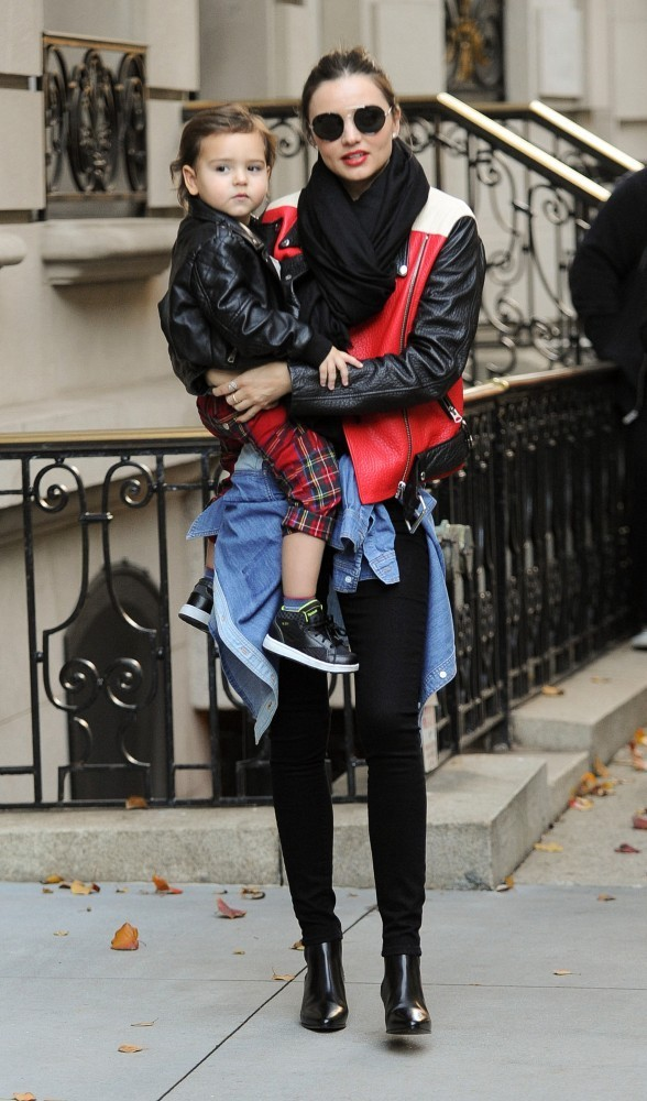 Miranda Kerr and Flynn out and about in NYC.