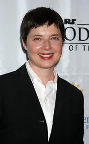 Isabella Rossellini looked fresh in an androgynous hairstyle as she attended the New York Premiere of 'Star Wars.'