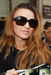 Nadine Coyle looked amazing in a pair of butterfly sunglasses while leaving the studio of BBC Radio 1.