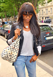 Naomi Campbell is seen out ans about in London, carrying around the coveted Spring 2010 handbag.